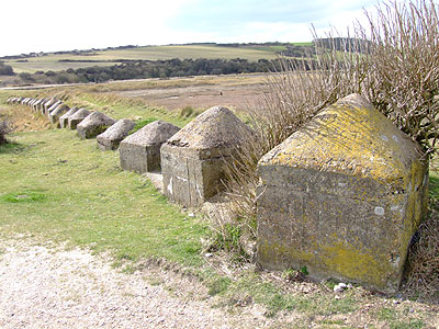 Anti-Tank Cubes at Cuckmere Haven